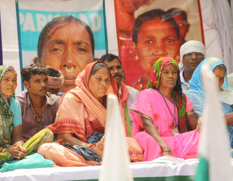 Photo by flickr user ActionAid India of Dalit Land rights campaign