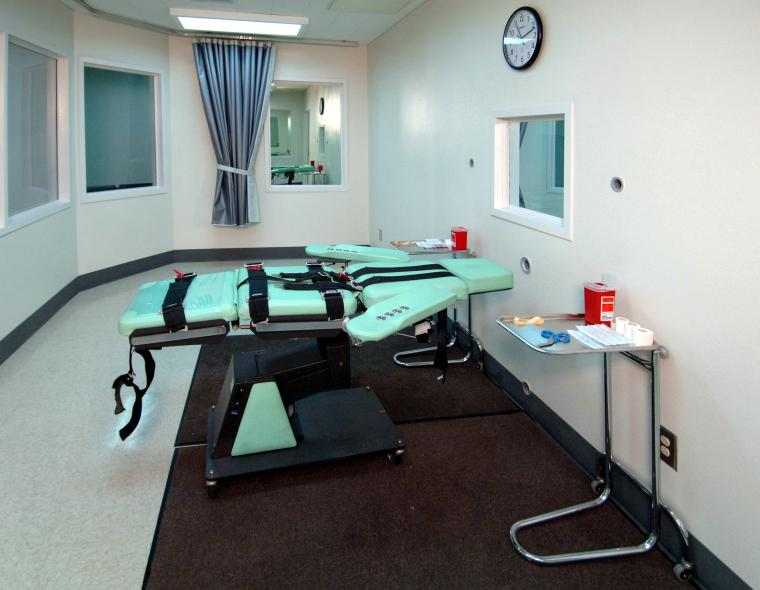 lethal injection room at san quentin