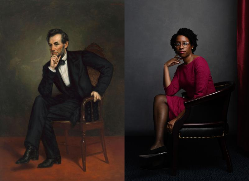 Portrait of Lincoln and Rep. Underwood