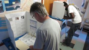 voters at polling station