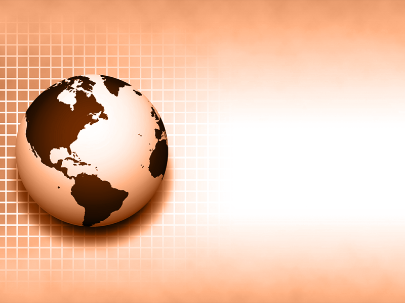illustration of globe over grid