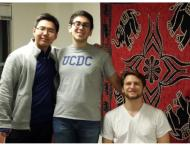 My new friends from Carnegie Mellon. From left to right: Joe Chi, me, Max Goetschel