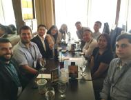 Lunch with the other interns and my supervisors