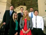 Kenna Falk (front row center) and the other law clerks for the Oakland City Attorney's Office