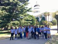 Young Legislators during the field trip to the Capitol in Sacramento