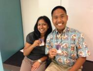 I pose with my coworker Paul as we both sport our new, shiny badges for our internship. Ah, first day memories…
