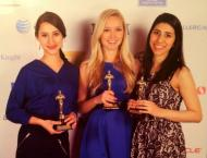 """Oscar Party at the California State Society """"Ahhhscar Night!"""" Clearly Room 503 (our fabulous UCDC room) is full of winners!"""