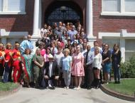 70s themed Administrator retreat at the Antioch Historical Museum